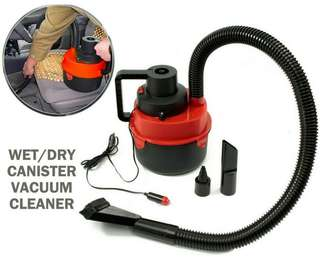 2 In 1 Wet/Dry Car Canister Mini Vacuum Cleaner DC 12V