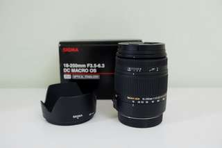 Sigma 18-250mm F3.5-6.3 DC Macro OS HSM Lens (Canon Mount)