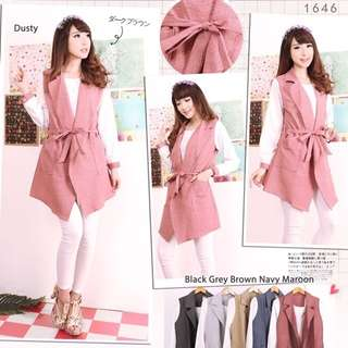 Long vest blazer 6 warna