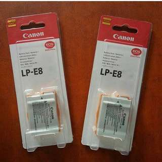 Battery LP-E8 for canon eos 550D 650D 600D