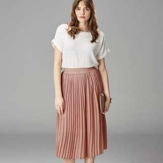 6ixty 8ight pleated gray skirt