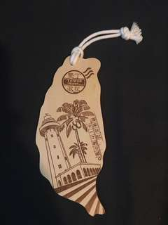 墾丁木製明信片