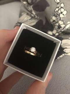 14 kt gold rings