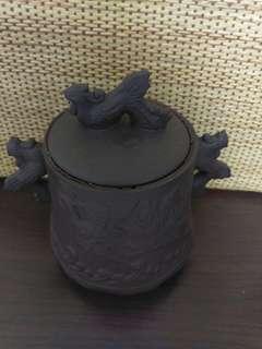 **紫砂茶葉罐**圖案**鳳