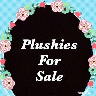 PLUSHIES 4 SALE