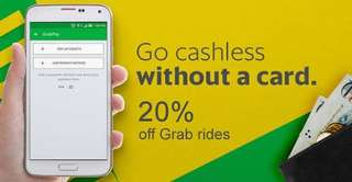 Grab car 20% off