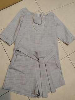 近新韓棉麻褲裝套裝(一套)