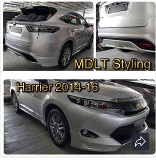 Toyota Harrier Bodykit for sale at $1200 with spray paint and installation!
