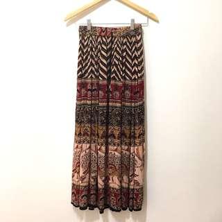 波希米亞風波西米亞民俗民族風古著長裙