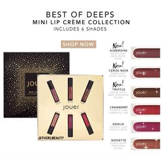 🚚 Instock | Jouer Best of Deep Minis Lip Creme Gift Set