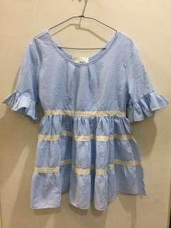 藍色蓬蓬裙 零元商品運費自出