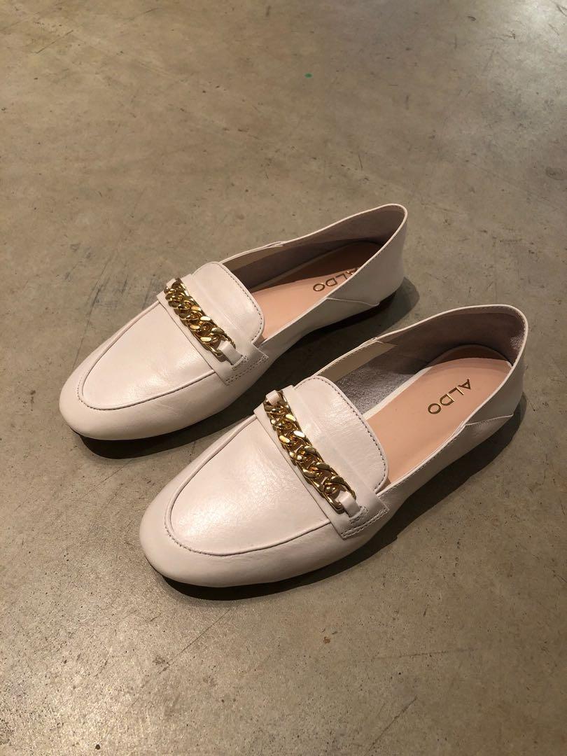 3497961775 Aldo White Loafers - US 6