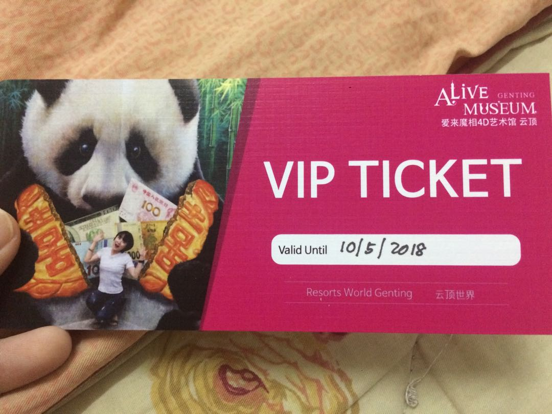 Alive Museum Genting Tix Tickets Vouchers Attractions On Tiket River Safari Plus Boat Ride Dewasa Adult Carousell