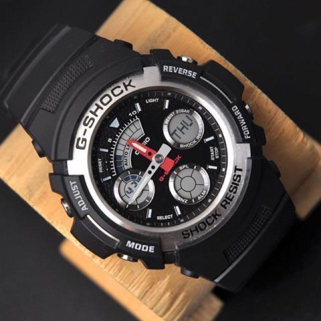 b77de85b7a9b Authentic Brand New Casio G-Shock AW-590-1A Men s Black Silver Resin ...