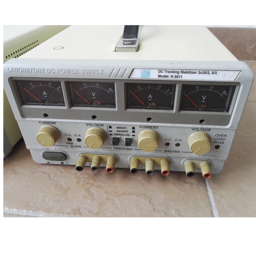 Benchtop Laboratory Dual Regulated Dc Power Supply Electronics Photo