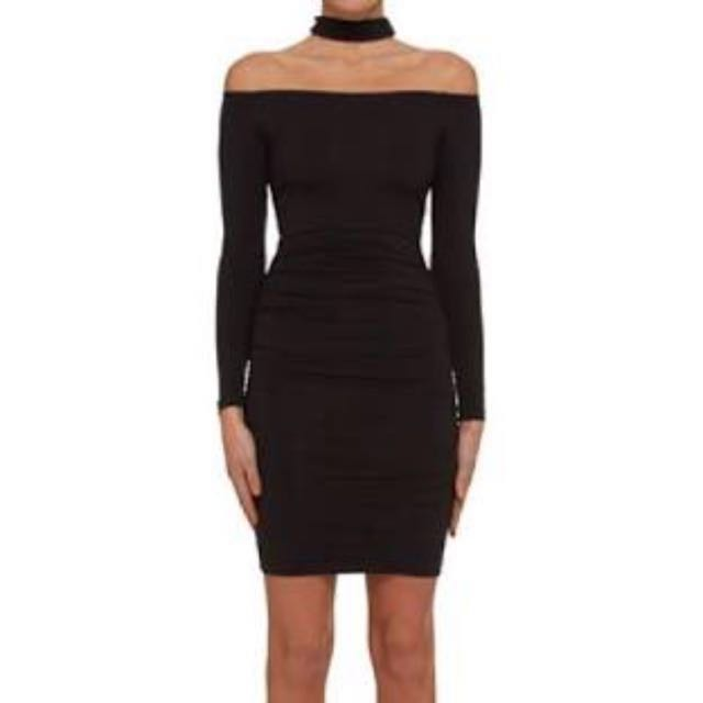 b3e1da448ea0 BNWT  Kookai KHAKI Off Shoulder Dress