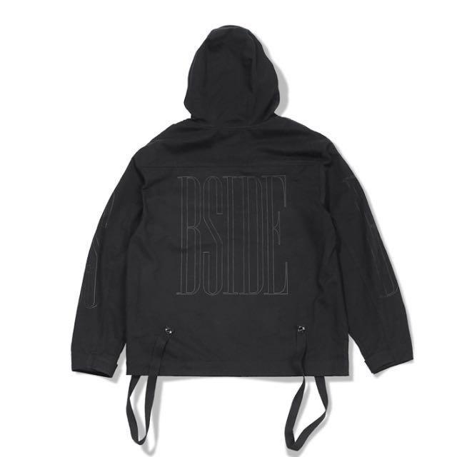 B-SIDE ANORAK HOODIE 套頭式連帽罩衫上衣 黑色