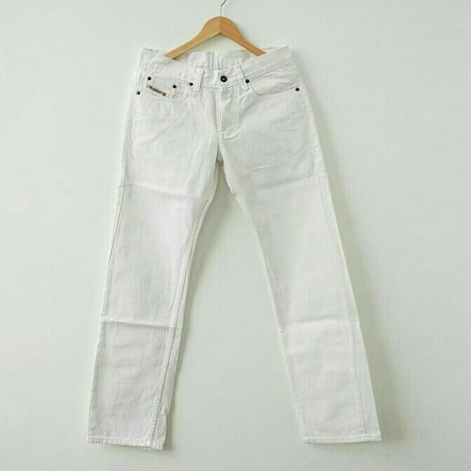 Celana jeans diesel Pure white