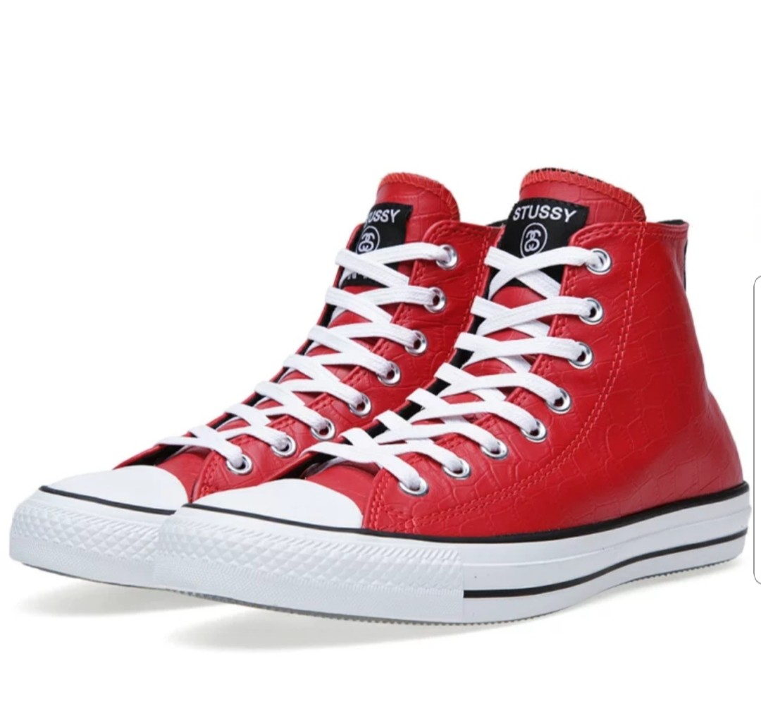 e307307d1fedde Converse x Stussy Chuck Taylor All Star Leather Hi Size US9.5 ...