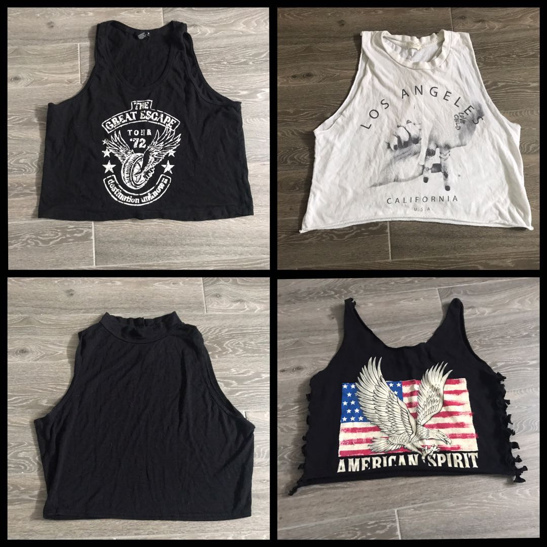 Cropped tank tops (all for $25)