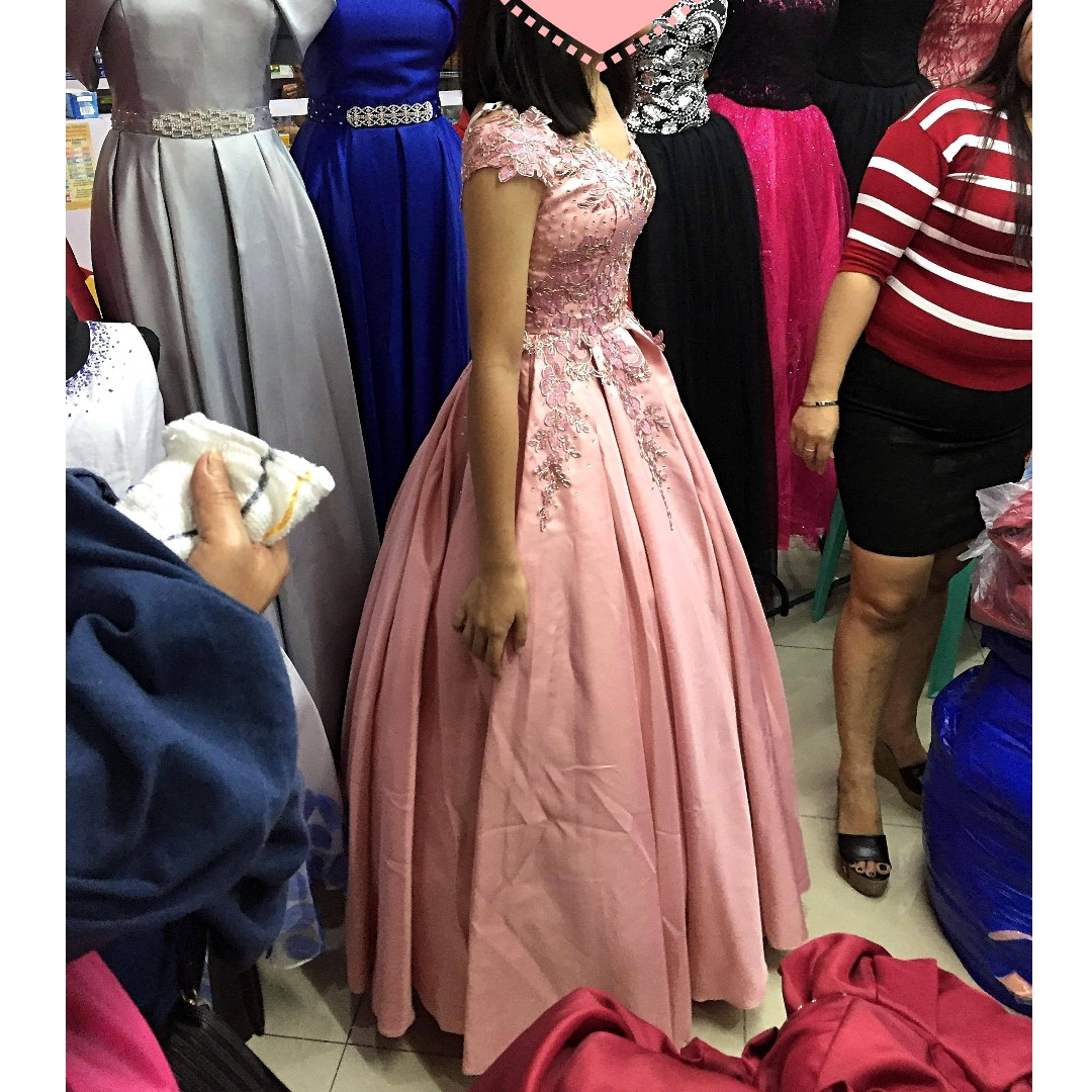 Debut Prom Birthday Graduation Ball Evening Pink Gown for Rent Sale ...