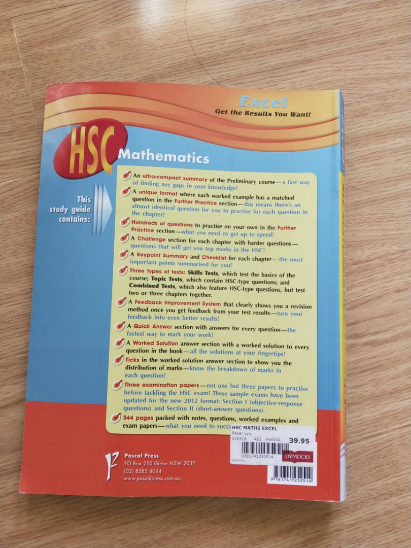 Excel hsc mathematics 2 unit