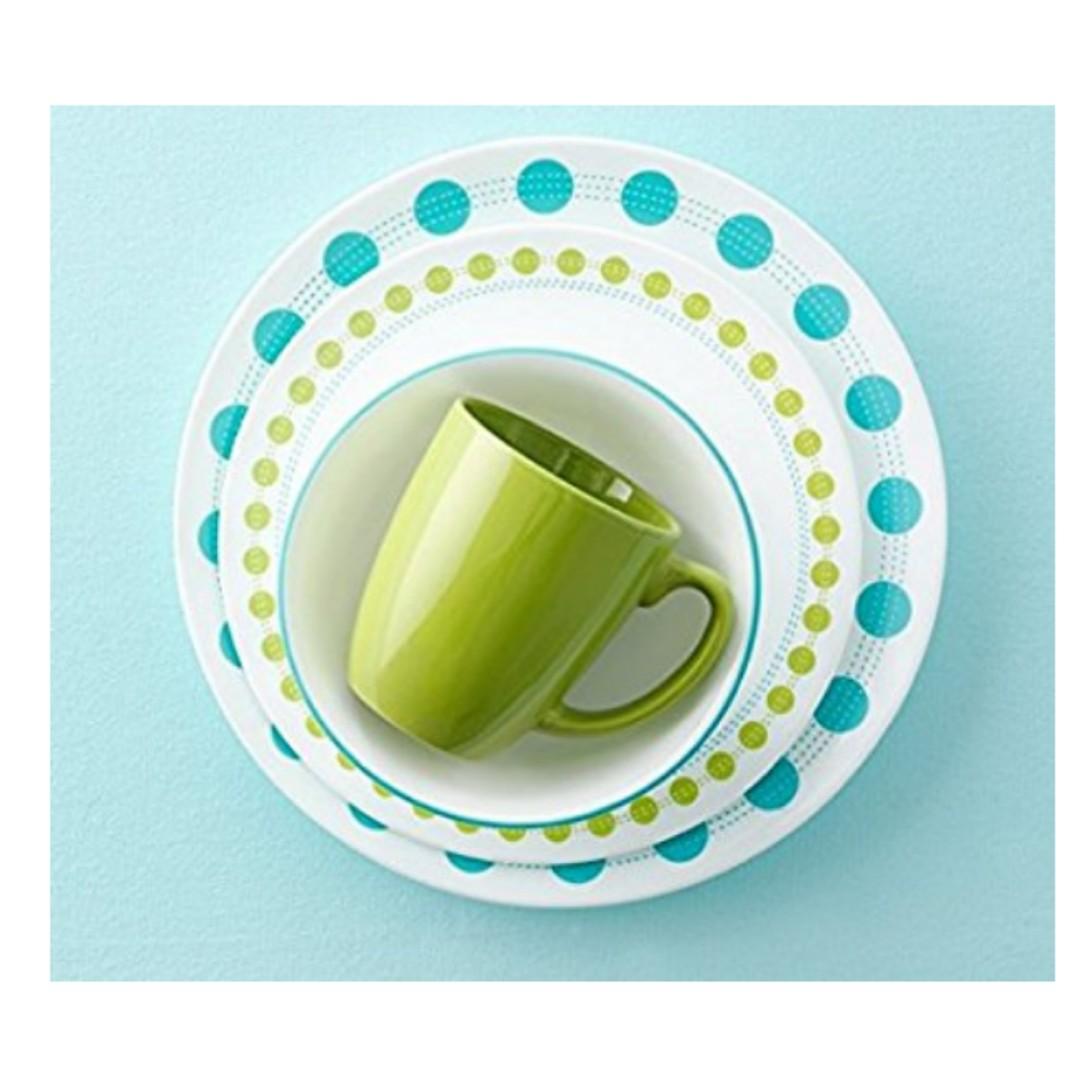 Corelle Livingware 16 Piece Dinnerware Set South Beach Service For 4 Home Liances Kitchenware On Carou