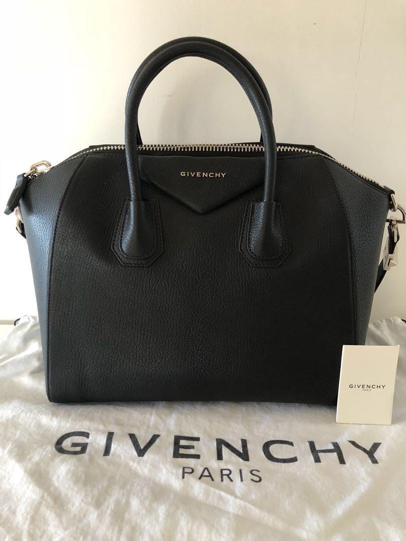 4e3af339772 Givenchy Antigona Medium Black Matte (7/10), Luxury, Bags & Wallets ...