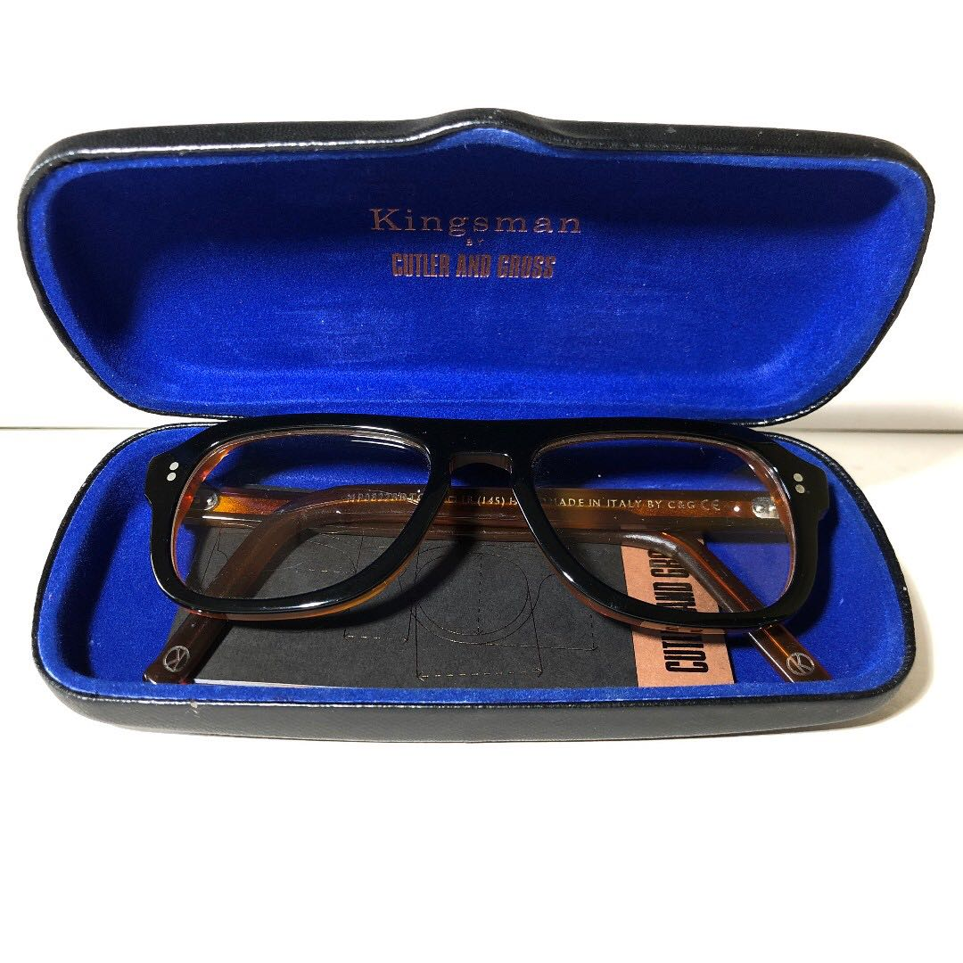 29ca42d1c5 Good Condition  Cutler and Gross Kingsman Square-Frame Tortoiseshell ...