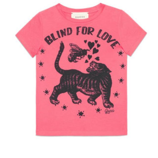 e5c04e69 Gucci Blind For Love Tee in Size 10, Women's Fashion, Clothes, Tops ...