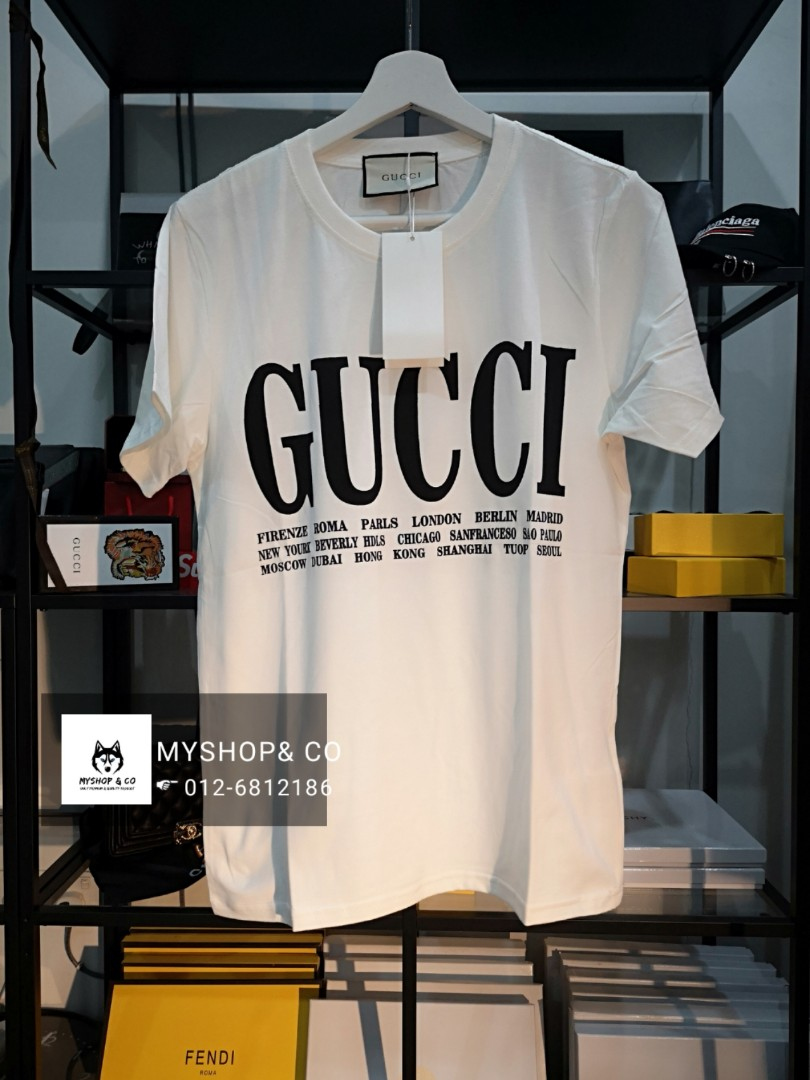 28ca48ec3 Gucci T-shirt, Men's Fashion, Clothes, Tops on Carousell