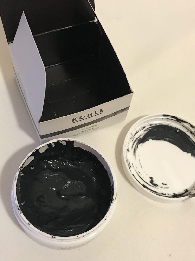 Kohle 100% natural charcoal & coconut face mask