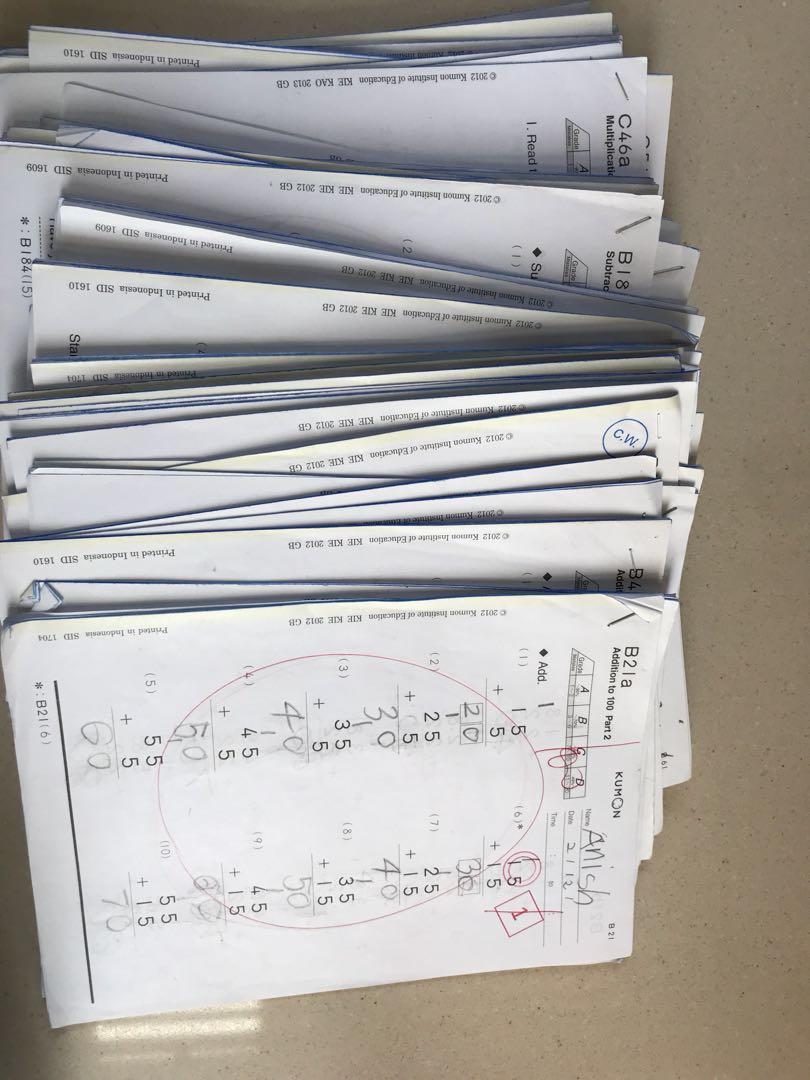 Fantastic Kumon Math Answers Photos - General Worksheet ...