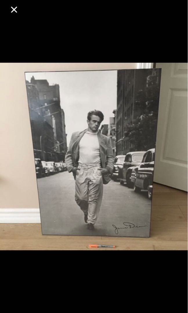 Large James dean framed photograph