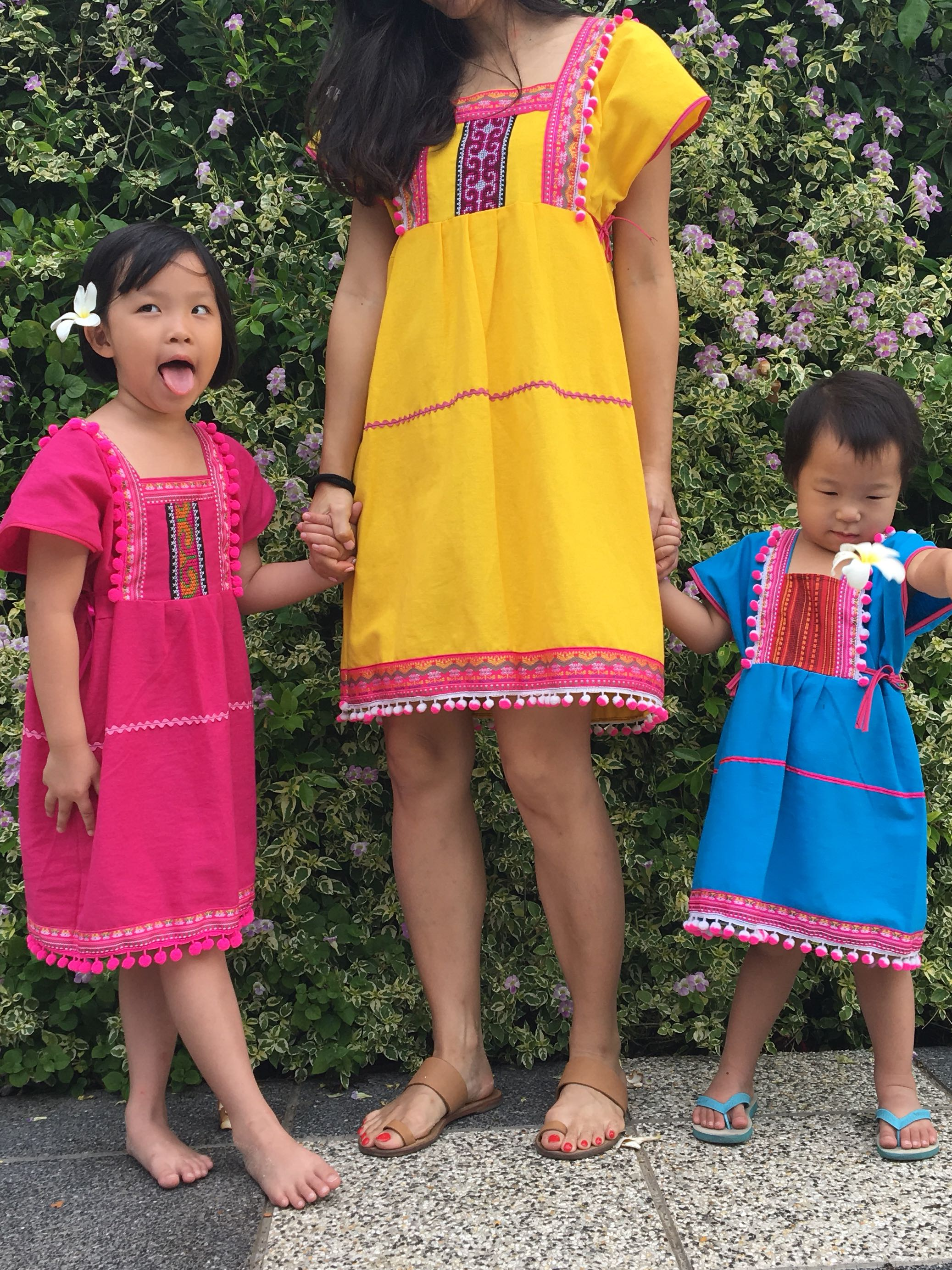 PL Mummy and daughter dresses from Bangkok