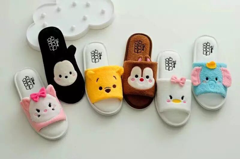 (PO)Disney Tsumtsum Home Bedroom Slippers (Size 36-38)
