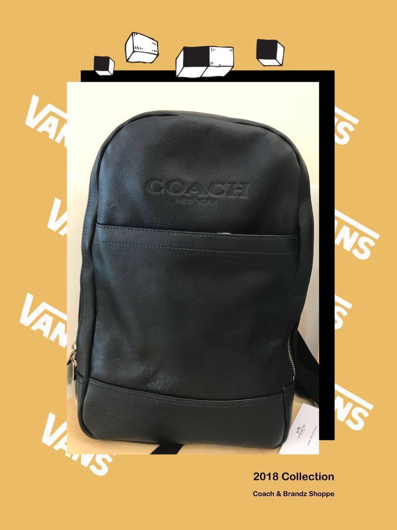 1d70d032fba31 Coach Men Charles Slim Backpack in Sport Calf Leather (Black) Ready Stock!!!  MUST HAVE~