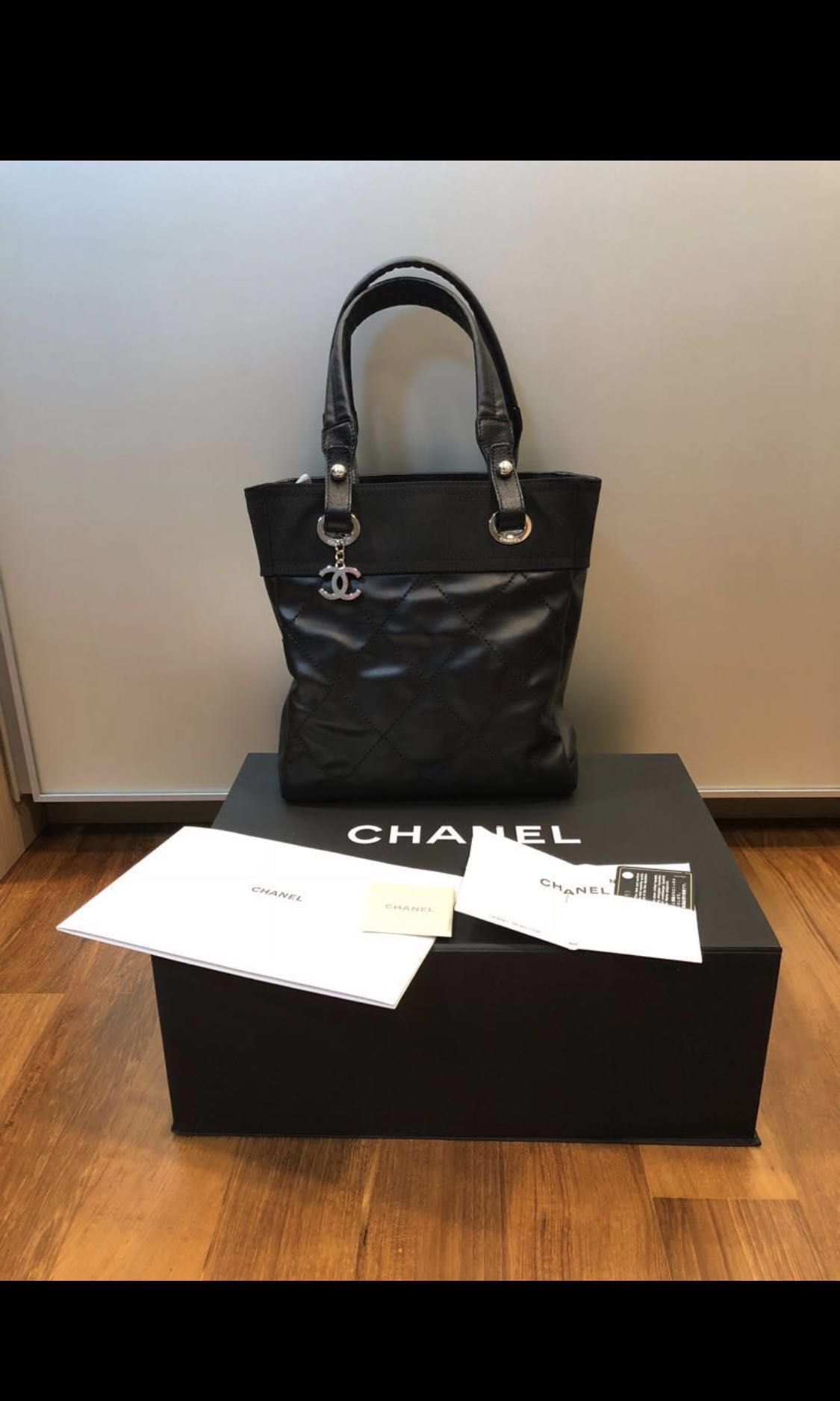 0372ea984ec4 🔥Price Reduced🔥AUTHENTIC CHANEL PARIS BIARRITZ SMALL TOTE IN BLACK ...