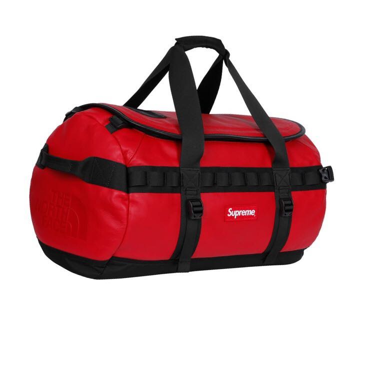 4ff3399ca6 Supreme x The North Face Leather Base Camp Duffel (Red)