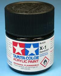 Tamiya Acrylic X 1 Black Paint