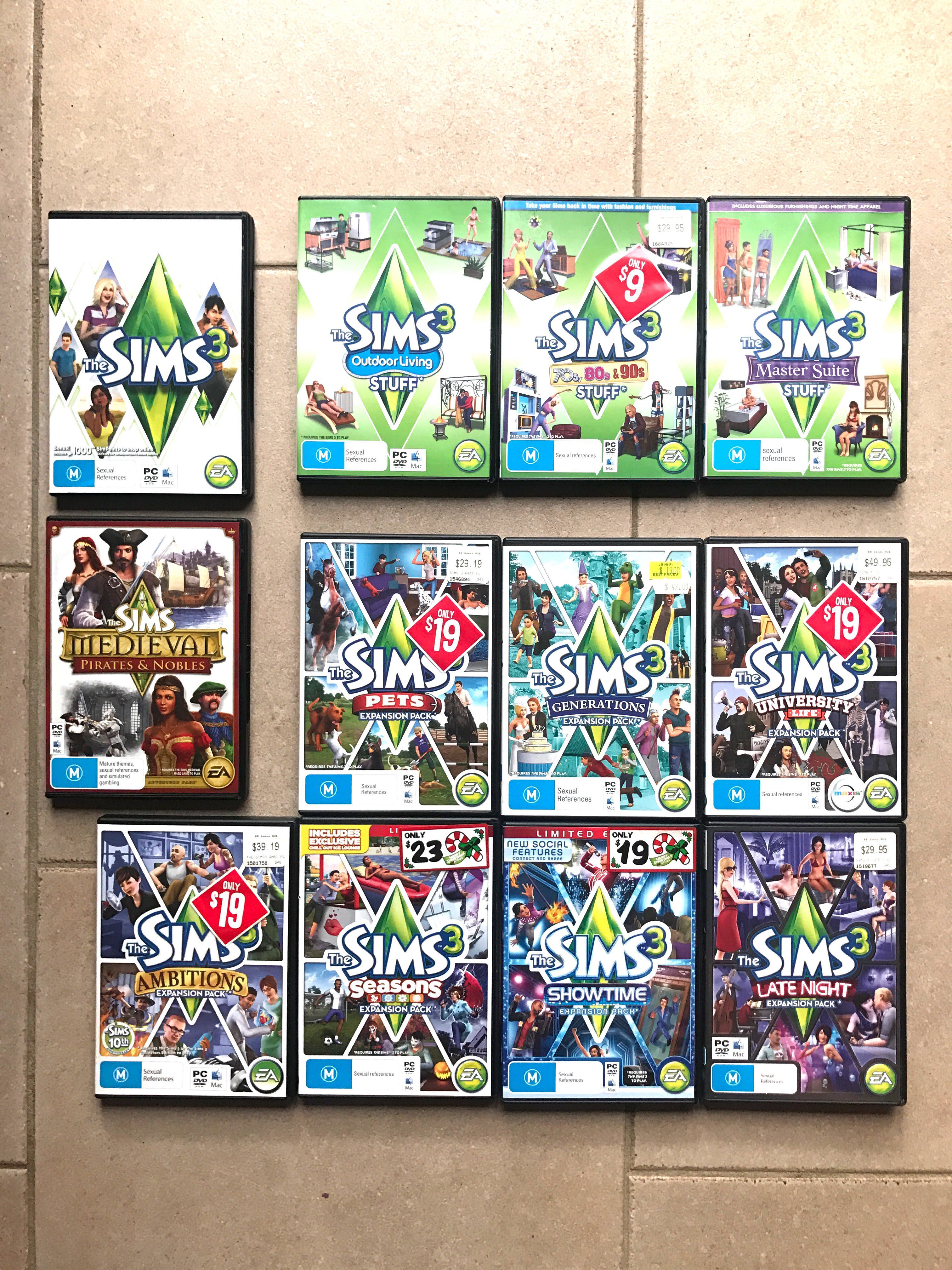 The Sims 3 bundle, Video Gaming, Video Games on Carousell
