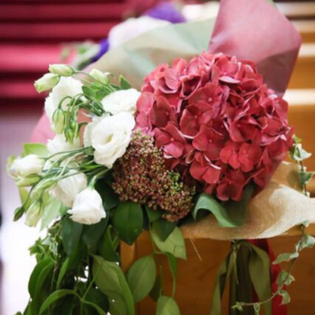Wedding Flowers 8 Bouquets For Church Pews Gardening On Carousell