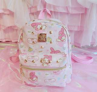 My Melody Studs Leather Backpack