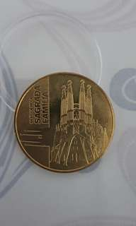 Authentic Gold Coin - Barcelona Sagrada Familia