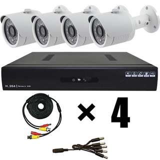 CCTV - 4 Camera system with installation