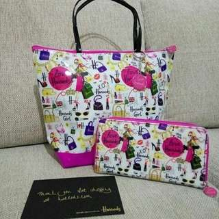 Harrods Glamorous Shopping Small Tote
