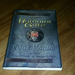 Baldur's Gate game manual