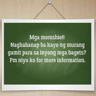 Announcement for momshies!!
