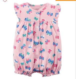 *18M* Brand New Carter's Snap Up Cotton Romper For Baby Girl