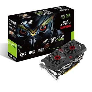 ASUS Strix GeForce GTX 1060 OC Edition 6GB GDDR5 VR Ready Gaming Graphic Card (BNIB)